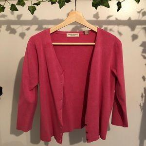 Pink shirt cardigan🌸